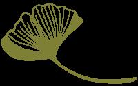 Logo human spirit, ginkgoblatt